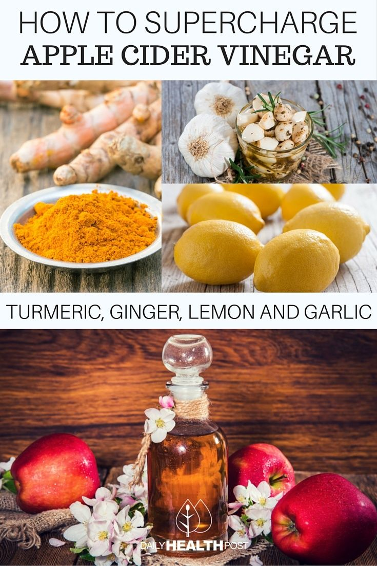 How To Supercharge Apple Cider Vinegar With Turmeric, Ginger, Lemon And Garlic