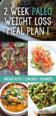 paleo meal plan for weight loss