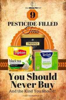 pesticides filled tea