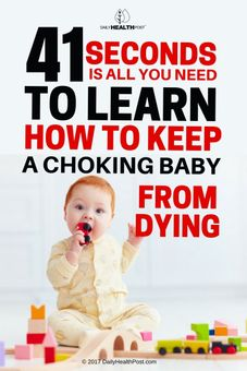 how to save choking baby