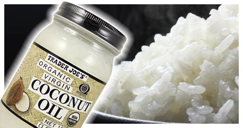 cook rice with coconut oil