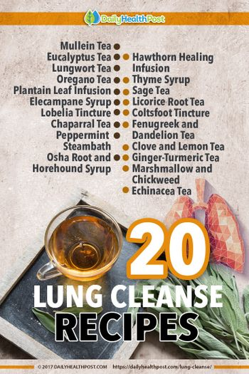 ways to cleanse lungs