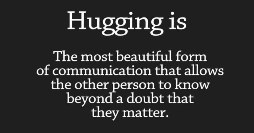 hugging benefits