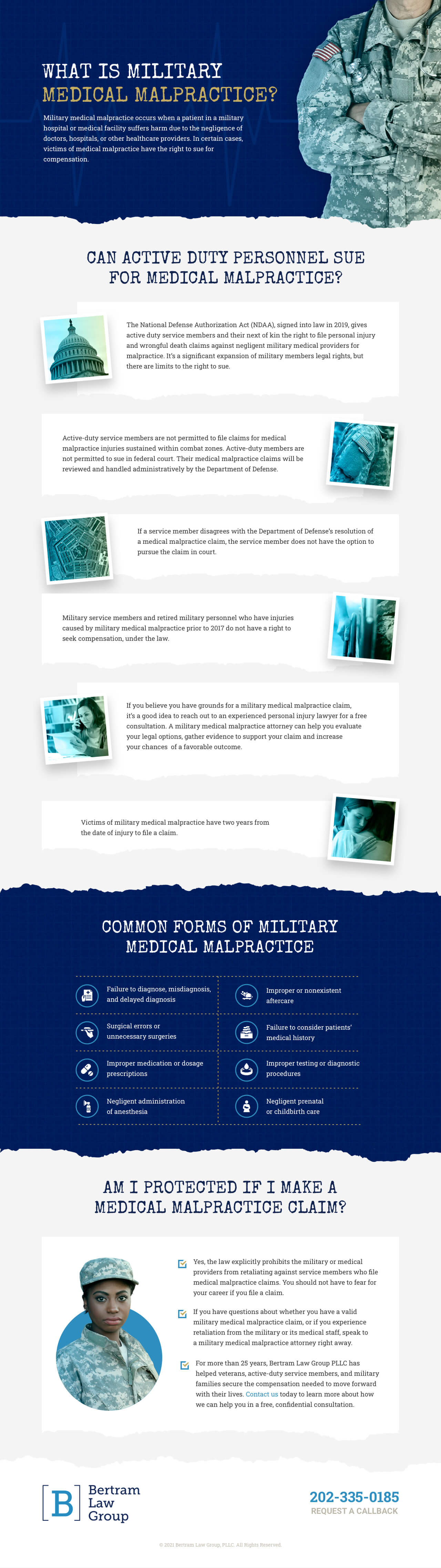 Military Medical Malpractice Infographic - Bertram Law Group