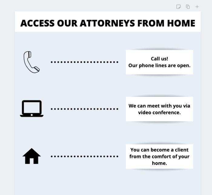 access our attorneys from home
