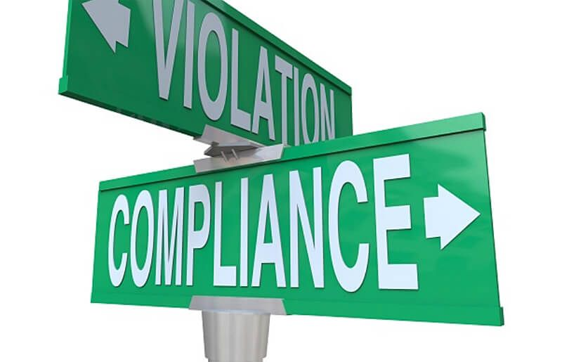 street signs violation compliance