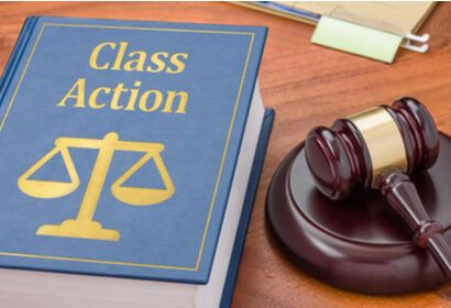 class action book and gavel