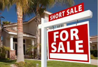 Florida home with short sale sign