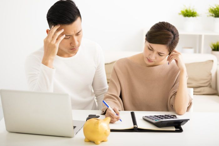 Couple reviewing bankruptcy options together