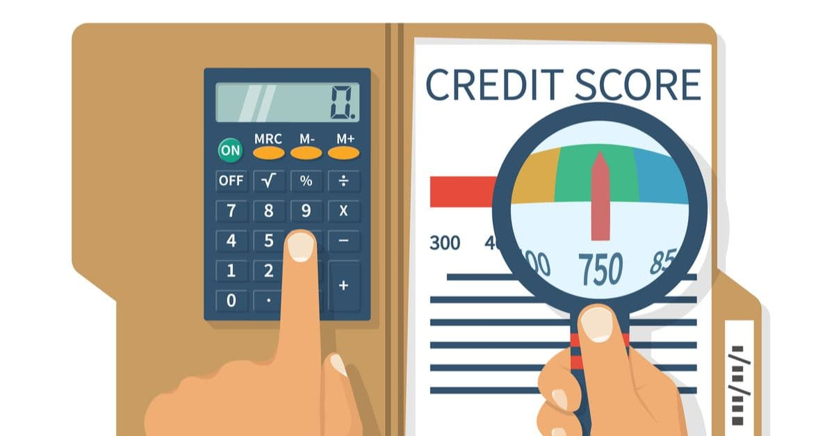 calculating credit score with a calculator