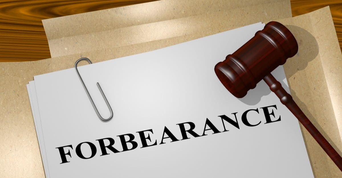 Forbearance title on legal document