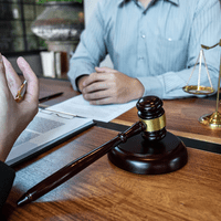 professional male lawyer discussing negotiation