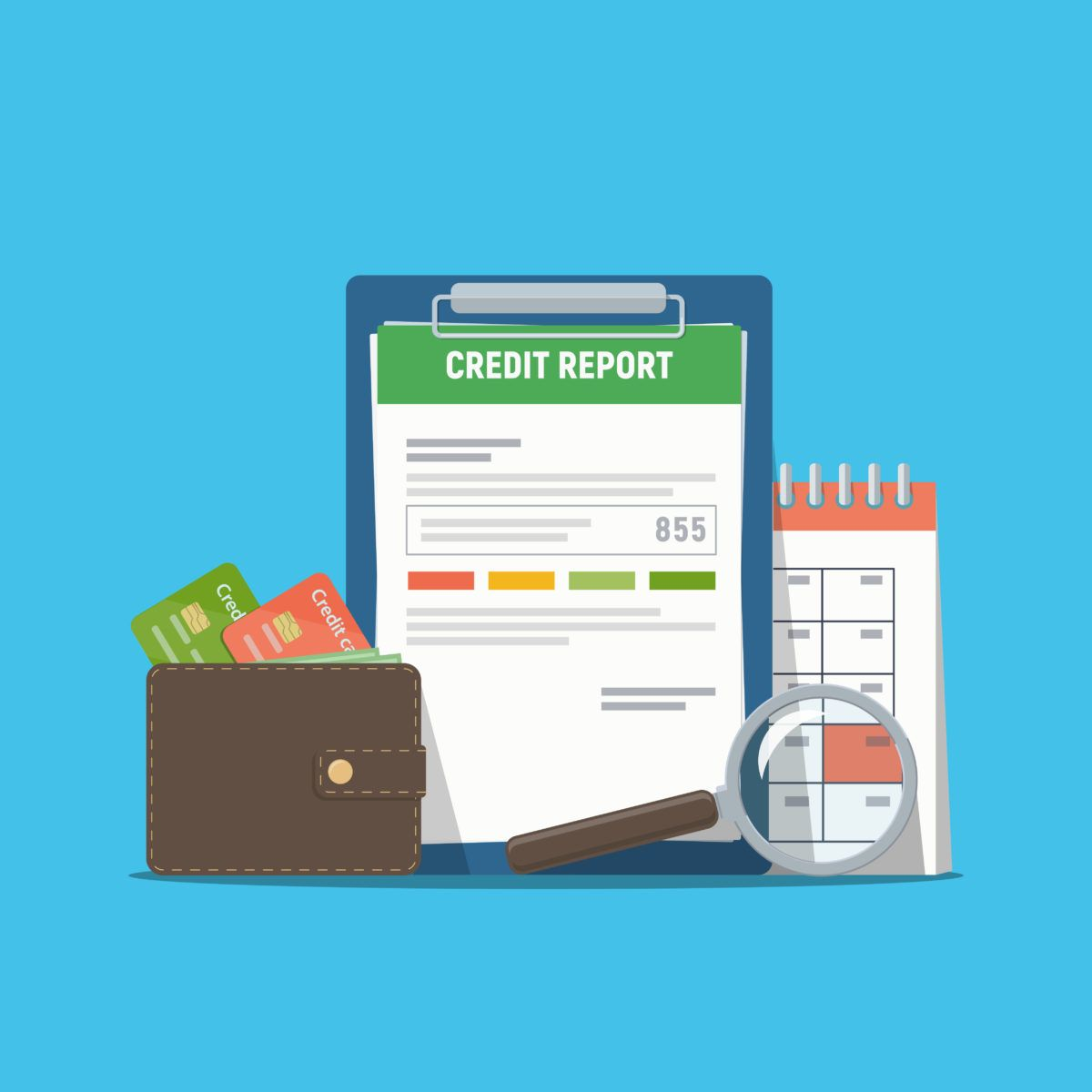 wallet, credit score and due dates after bankruptcy discharge
