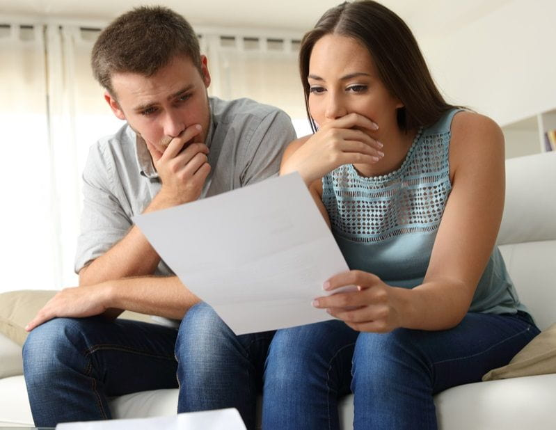couple worried about foreclosure