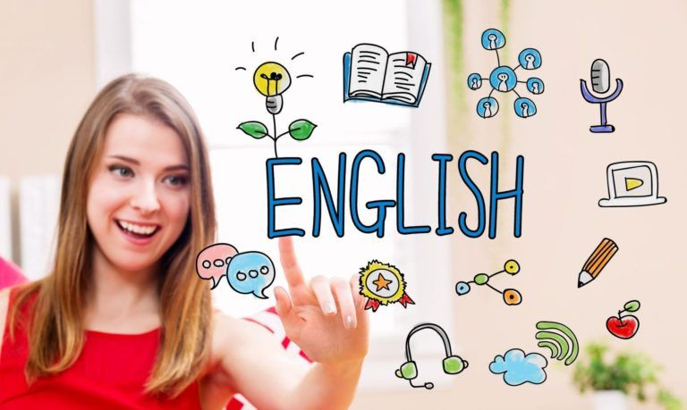 GIRL SMILING SHOWING ENGLISH FOR ENGLISH TUTORING SERVICE IN NORTH AND WEST VANCOUVER