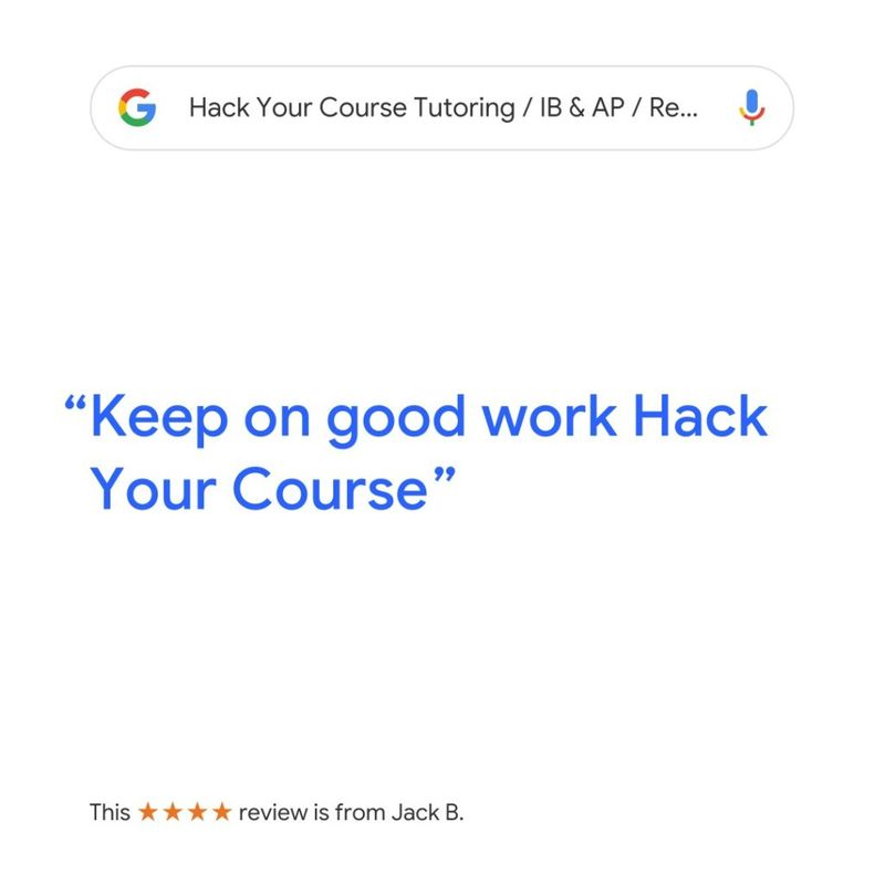 "REVIEW BY JACK ""KEEP ON GOOD WORK HACK YOUR COURSE"" FOR MATH TUTORING AND SAT TUTORING SERVICE IN VANCOUVER"