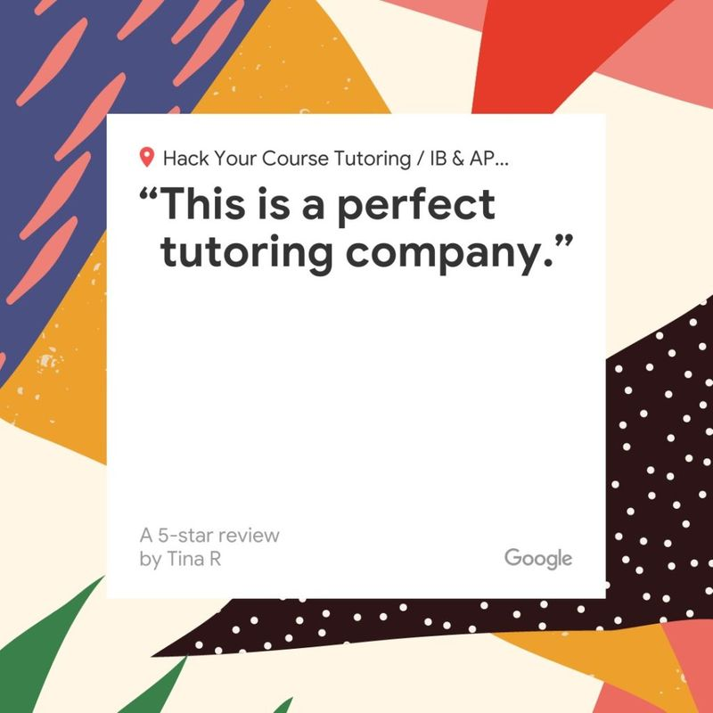 "google thanks ""this is a perfect tutoring company"" by Tina R for hack your course tutoring in North and West Vancouver"