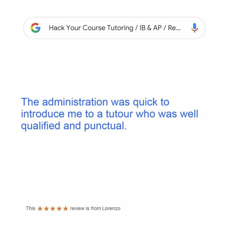 REVIEW BY LORENZO FOR IN-HOME CALCULUS TUTORING & ECONOMICS IB TUTORING SERVICE IN GREATER VANCOUVER & WEST VANCOUVER