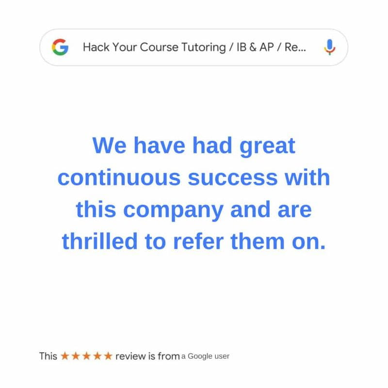 Review for Hack Your Course Tutoring Service in Canada for IB and English tutoring