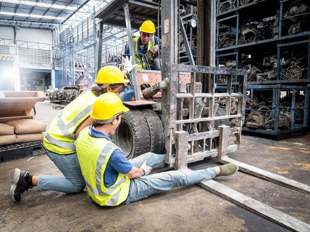 A worker in Georgia is injured on the job by a forklift.