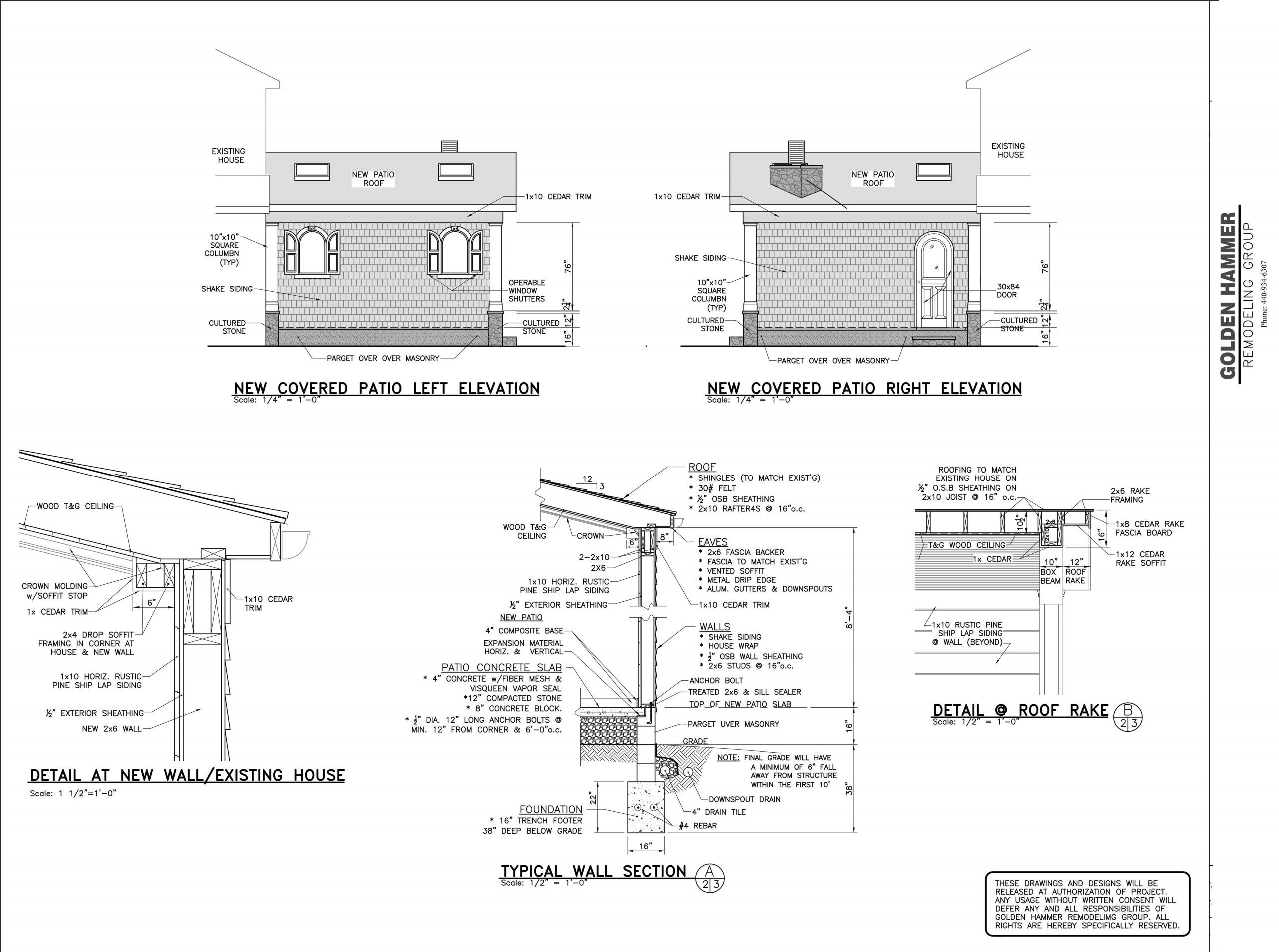 covered patio design plans