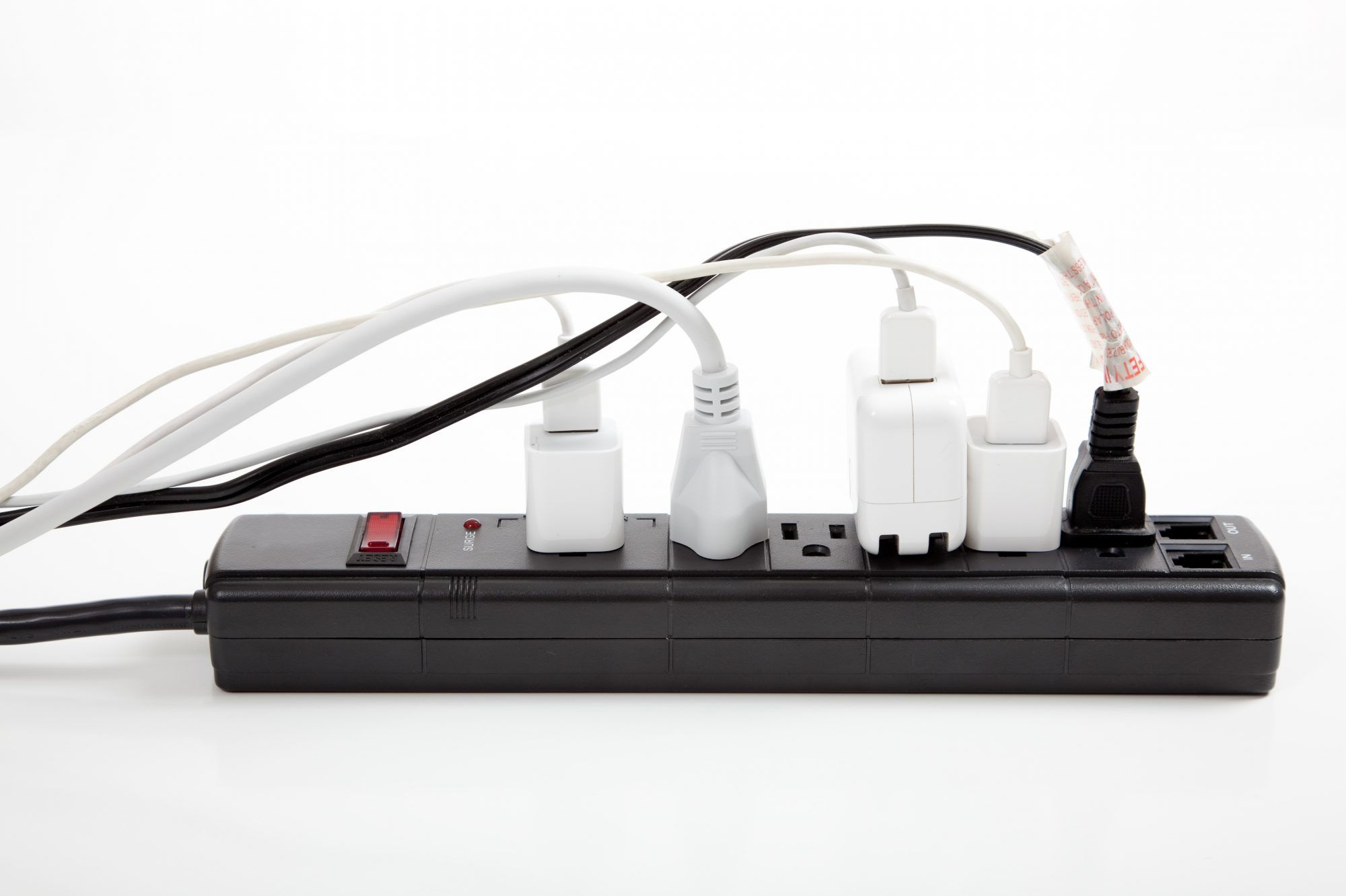 Surge protectors stopping transient power surges groundline