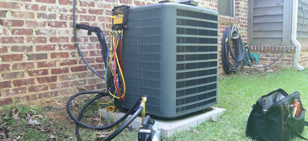 air conditioner maintenance on residential property