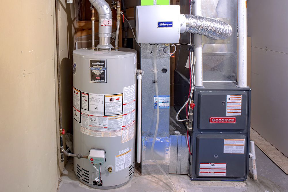 A heating system after residential boiler replacement