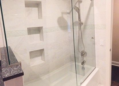 Beautiful remodeled shower
