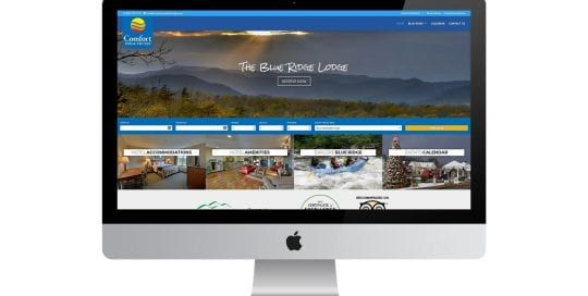 Comfort Inn of Blue Ridge - home page on screen