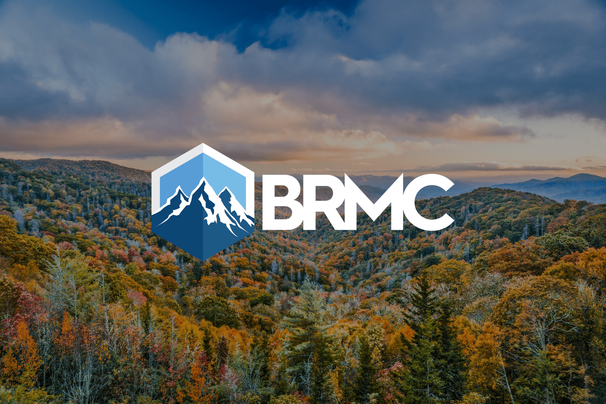 BRMC logo on scenic background