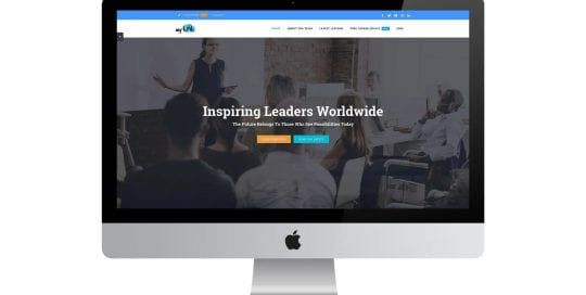My lesson in leadership - home page on screen