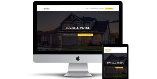 Phoenix property developers - - home page on multiple screen