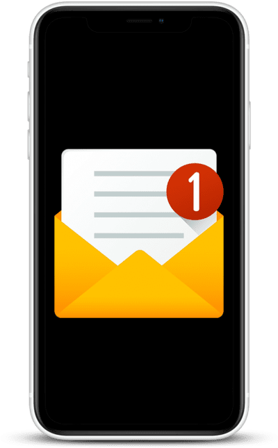 mail icon on the phone