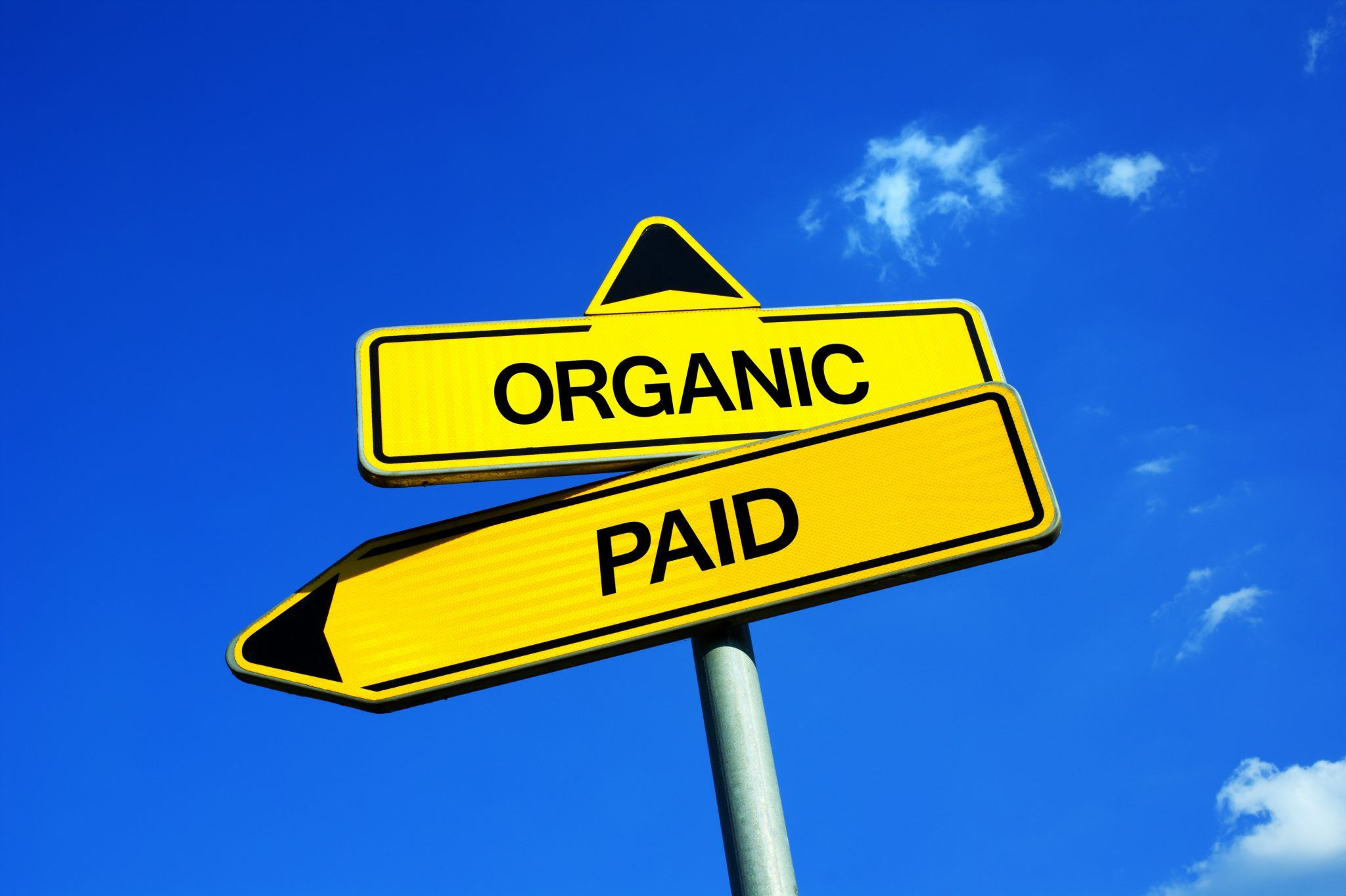 Organic & paid direction sign