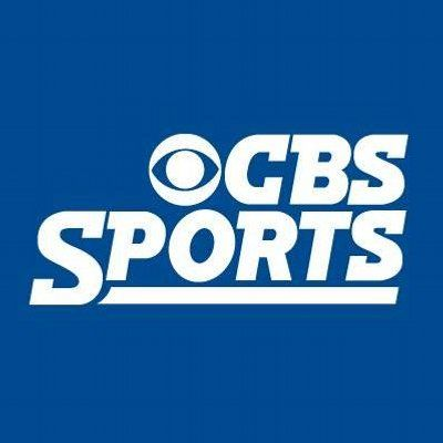 CBS Sports logo on blue background