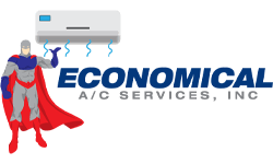 Economical A/C services graphic logo