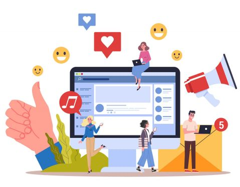 Social media interaction with customers