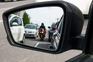 motorcycle from mirror view