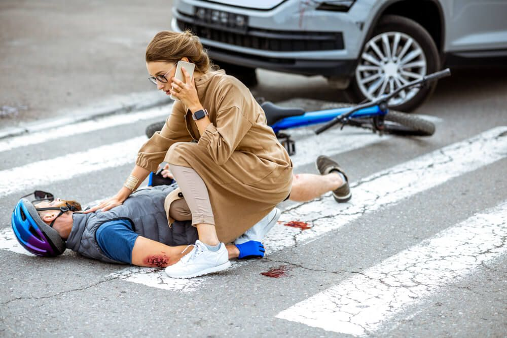 A woman calling 911 for an injured pedestrian in Spring Hill, Florida.