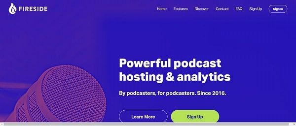 Fireside podcast hosting site