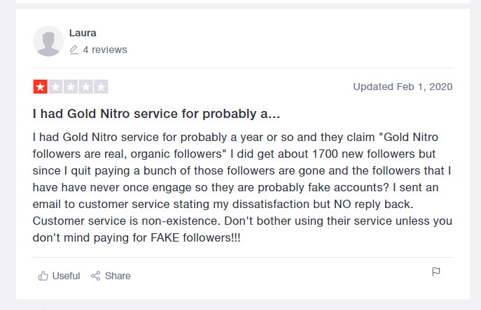 Gold nitro review example