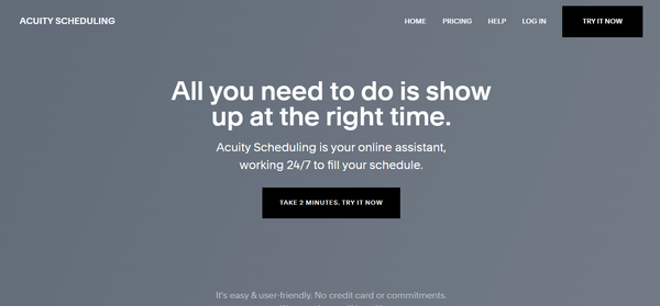 Acuity Scheduling homepage