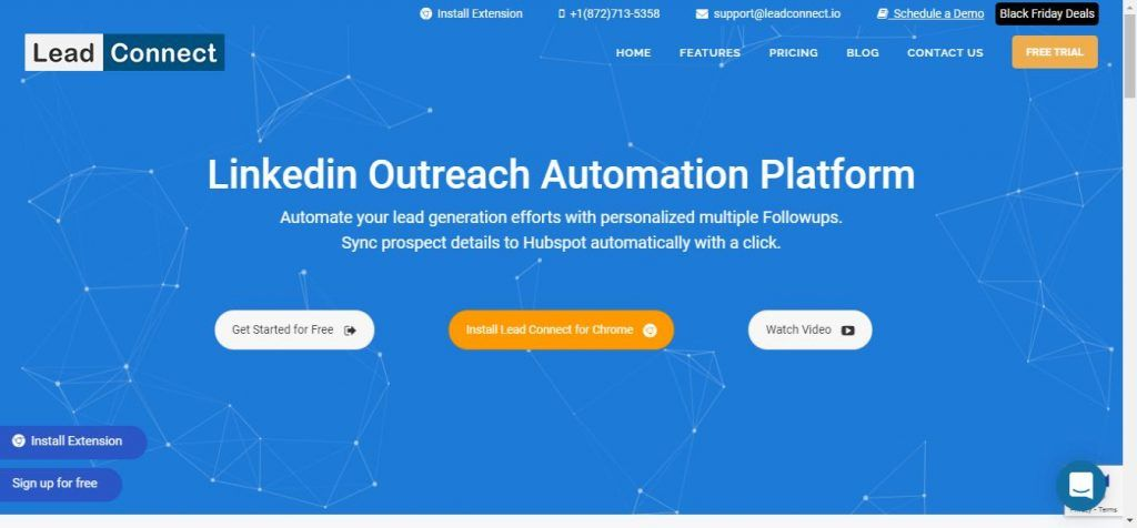 Lead Connect LinkedIn automation tool