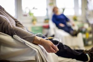 Patients undergoing chemotherapy after getting cancer from weight loss drug Belviq