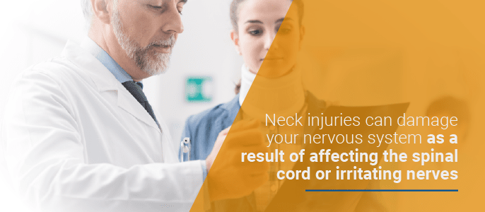 neck injuries can affect the spinal cord