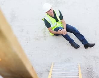 worker with knee injury
