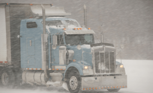 Truck Snow Driving - Michigan - Christensen Law