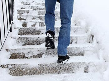 slip and fall on snow or ice