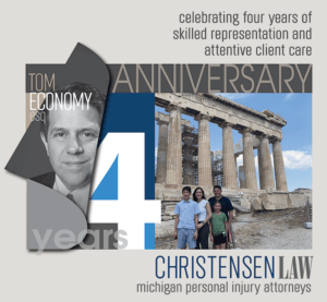 Attorney Tom Economy Celebrates 4 Years with Christensen Law